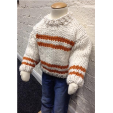 Orange Striped Super Chunky Jumper