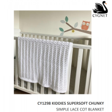 Simple Lace Cot Blanket