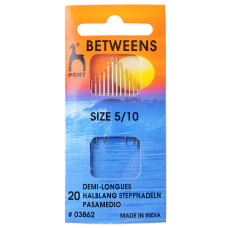 Hand Sewing Needles: Betweens: Gold Eye: Size 5-10