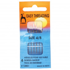 Hand Sewing Needles: Easy Thread: Gold Eye: Size 4-8