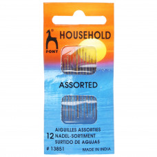 Hand Sewing Needles: Household: Gold Eye: Assorted Sizes