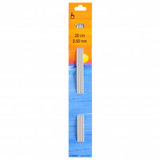 Knitting Pins: Double-Ended: Set of Four: 20cm x 2.50mm