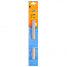 Knitting Pins: Double-Ended: Set of Four: 20cm x 3.00mm