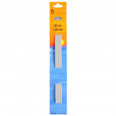 Knitting Pins: Double-Ended: Set of Four: 20cm x 3.25mm