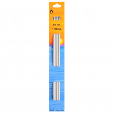 Knitting Pins: Double-Ended: Set of Four: 20cm x 3.50mm