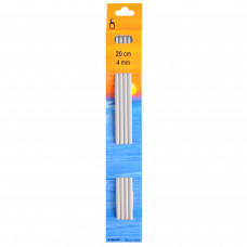 Knitting Pins: Double-Ended: Set of Four: 20cm x 4.00mm