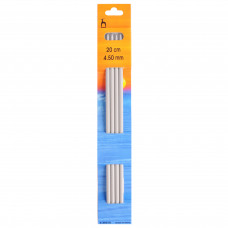 Knitting Pins: Double-Ended: Set of Four: 20cm x 4.50mm