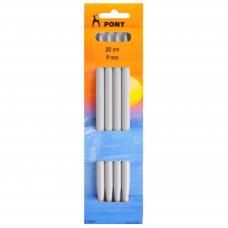 Knitting Pins: Double-Ended: Set of Four: 20cm x 9.00mm